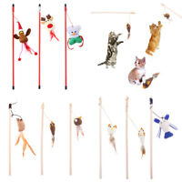 Kitten Pet Teaser Toys Bells Ring Interactive Fun Toy Wire Chaser Wand For Cat