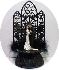 Edward and Bella's Wedding Cake Toppers Halloween Twlight Sga Sexy Black