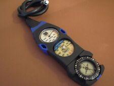 OCEANIC UWATEC Triple Console Pressure & Depth Gauges + Compass Scuba Dive SPG