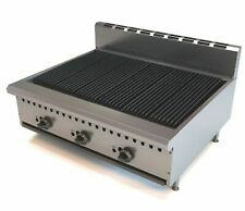 More details for commercial gas char broiler 3 burner chargrill natural gas or lpg bbq steak meat
