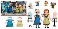 "Disney Store Animators Elsa & Anna Dolls 16"" Deluxe Gift Set Frozen Singing NEW"