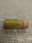 R A W Chase's Kidney And Liver Pills Wooden Bottle still Contains Medicine!