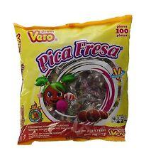 Vero Pica Fresa Chili Strawberry Flavor Gummy Mexican Candy100 ... Free Shipping