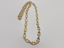Gold Tone Interlocking Link Necklace 37""