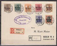 B2559/ BELGIUM GERMAN OCC – MI # 11 / 15 + 18 / 19 ON COVER