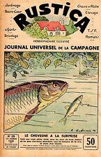 PLANCHE COULEUR  DESSIN ANDRIEUX 1936 TIREE RUSTICA LE CHEVESNE A LA SURPRISE