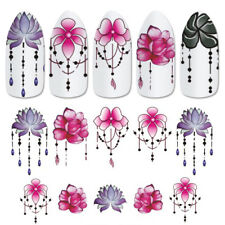 5 Sheets 3D DIY Nail Art Transfer Sticker Flower Decals Manicure Nail Tips Decor