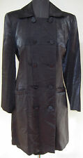 MOD VIVIENNE TAM DRESS TOPCOAT SET BLACK VELVET SHINY SILVER MEDIUM LARGE M L