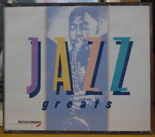 JAZZ GREATS COMPIL' BRITISH AIRWAYS DOUBLE COMPACT DISC TELSTAR RECORDS 1989