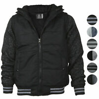 Vertical Sport Men's Sherpa Fleece Lined Two Tone Zip Up Hoodie Jacket
