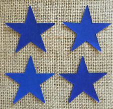 Pack of 4 Small Stars - Fabric Iron on - Blue -Personalisation- Bunting Making