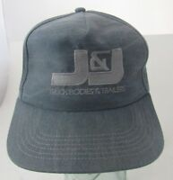 VTG J&J Truck Bodies & Trailers Trucker Hat Cap Advertising Made in USA A14