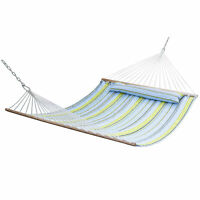 Double Hammock Quilted Fabric with Detachable Pillow Spreader Bar Heavy Duty