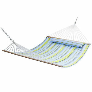 YOUZHI Hammock canvas mesh hammock double hammock 300 x 150cm portable and breathable hammock for outdoor camping hiking gardens load-bearing up to 300 kg,Blue,S