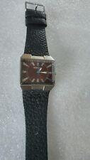 Kahuna Kus-0021G Mens black Leather Strap Watch (refurbished )