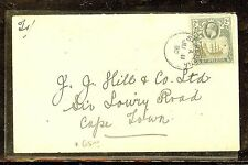 ASCENSION (P0210B) KGV 2D SHIP BADGE COVER 1925 TO ENGLAND