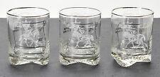 Vintage Atlantic City Race Course United Nations Handicap Rock Glasses Set of 3