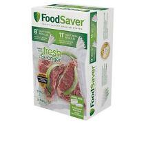 "NEW Vacuum Sealer Foodsaver Rolls Food Saver Bags 11"" 8"" 5 Pack Storage Seal"