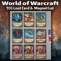 World of Warcraft TCG Loot Card & Magnet Lot, Floating Spellbook, Spectral Tiger