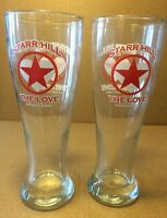 """Collectible Starr Hill Brewery The Love Wheat Beer 8"""" Pilsner Glasses Set Of 2"""