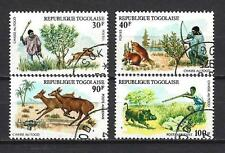 Animals fauna sauvage hunting Togo (128) series complete 4 stamps obliterated