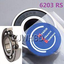 6203 2RS Si3N4 Hybrid Ceramic Ball Bearing Rubber Sealed 17 x 40 x 12 mm Hub