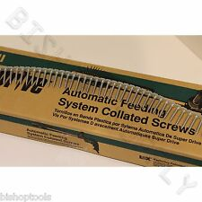 "6 Hitachi 17511 of 1000ct SuperDrive Cement & Hardboard 8x1-1/4"" Collated Screws"