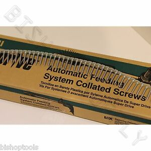 """6 Hitachi 17511 of 1000ct SuperDrive Cement & Hardboard 8x1-1/4"""" Collated Screws"""
