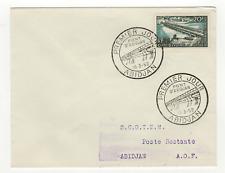 Côte d'Ivoire 1 timbre sur lettre FDC 1958 tampon Abidjan /L523
