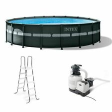 Intex 18Ft x 52In Ultra XTR Frame Round Above Ground Swimming Pool Set with Pump