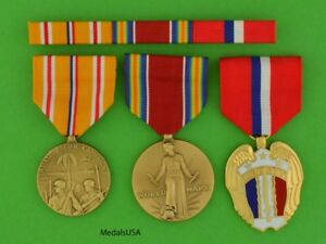 WWII Philippines Asia Pacific Service Medals and RIbbon Bar WWII