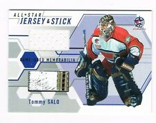 TOMMY SALO 2002-03 ITG / BTP GAME-USED ALL-STAR 4 COLOR STICK & JERSEY SICK!