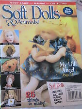 SOFT DOLLS & ANIMALS JANUARY 2002 doll patterns, techniques, tips, magazine
