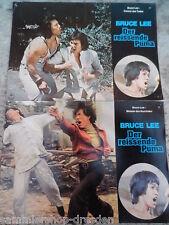 191 2x Aushangfoto Bruce Lee der reissende Puma  AHF