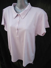 BNWT Ladies Sz 12 Rivers Brand Light Purple Short Sleeve Relaxed Fit Polo Top