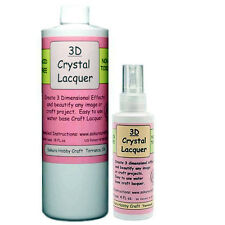COMBO PACK - 3D CRYSTAL LACQUER 18 OZ & 4 OZ BOTTLE - Craft Adhesive Glue Glaze