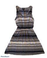 GAP Womens Sleeveless Summer Dress Nautical Striped Navy White Size XS