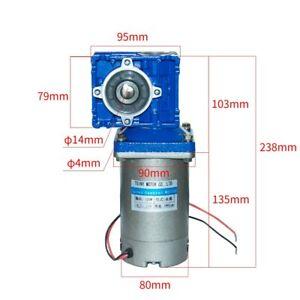12/24/90V 120 Watt  DC Worm Gear Motor with NMRV030 Speed Gearbox  Reducer