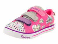 Skechers Twinkle Toes Sparkle Lite Ligh Up Flutter Fab Pink Girl Kid's Shoes New