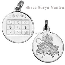Sun Planet Pendant Surya Yantra Locket in 999 Sterling Silver - Vedic Vaani