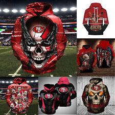 San Francisco 49ers Football Hoodie Sweatshirt Men's Pullover Hooded Jacket Coat