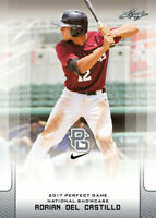 """ADRIAN DEL CASTILLO 2017 LEAF """"1ST EVER PRINTED"""" PERFECT GAME ROOKIE CARD!"""