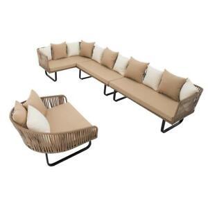 Polyrattan Luxus Lounge Set Gartenmöbel Sitzgruppe Couch Garnitur Tisch Sofa