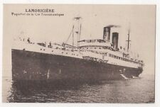 Lamoriciere, Paquebot de la Cie Transatlantique Shipping Postcard B629