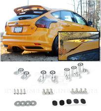 For 13-Up Ford Focus ST ANODIZED SILVER JDM Rear Wing Spoiler Riser Extender Kit
