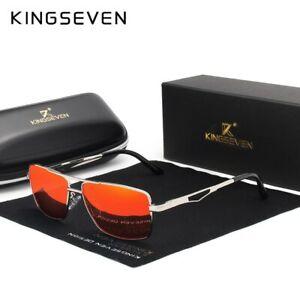 KINGSEVEN Classic Square Polarized Sunglasses Men's Driving  UV Blocking Eyewear