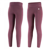 Horze Junior Knee Patch Active Riding Tights with Leather-Like Knee Patches