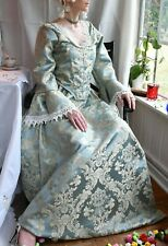 18th Century Marie Antoinette Colonial Gown turquoise Dress Costume rococo dress