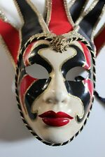 adult size Mardi Gras Jester joker painted mask costume party wall decor