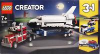 LEGO Creator 31091 Transporter f. Space Shuttle 3in1 Jeep Wohnwagen LKW Heli NEU